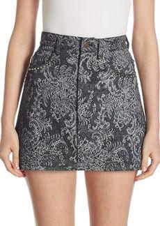 Marc Jacobs Lace Denim Mini Skirt