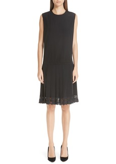 MARC JACOBS Lace Hem Silk Dress
