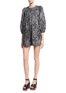 Marc Jacobs Lace-Print Babydoll Dress