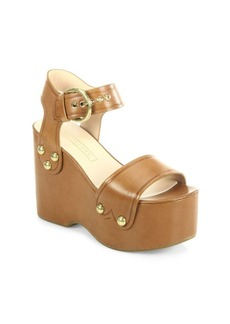 Marc Jacobs Lana Leather Wedge Sandals