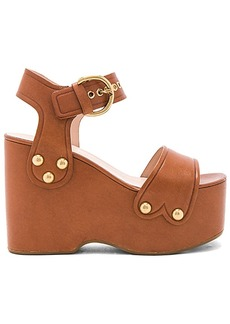 Marc Jacobs Lana Wedge in Brown. - size 37.5 (also in 38,40)