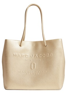 MARC JACOBS Leather Logo Shopper Tote