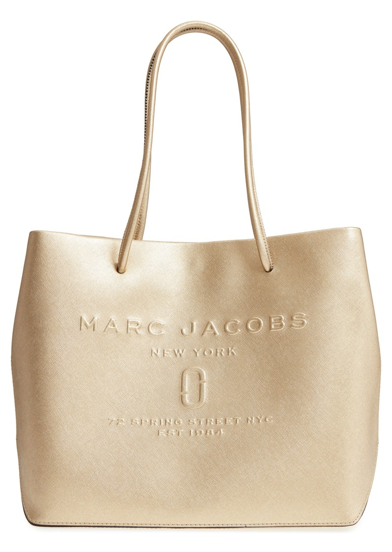 d2349beb65077 SALE! Marc Jacobs MARC JACOBS Leather Logo Shopper Tote