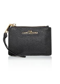 MARC JACOBS Leather Zip Top Wallet
