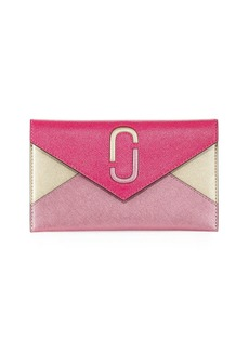 Marc Jacobs Liaise Metallic Envelope Clutch Bag