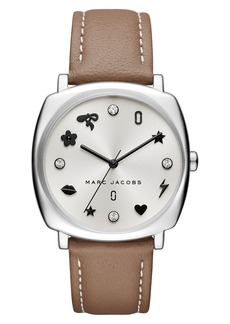 MARC JACOBS Mandy Leather Strap Watch, 34mm