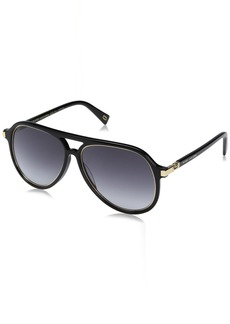 Marc Jacobs Men's Marc174s Aviator Sunglasses BLACK GOLD/DARK GRAY GRADIENT