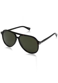 Marc Jacobs Men's Marc174s Aviator Sunglasses DARK HAVANA/GREEN