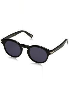 Marc Jacobs Men's Marc184s Polarized Round Sunglasses  49 mm