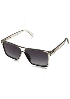 Marc Jacobs Men's Marc222s Rectangular Sunglasses CRYS BLCK 58 mm