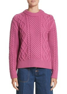 MARC JACOBS Merino Wool Cable Knit Sweater