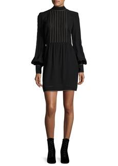 Marc Jacobs Mesh-Front Bishop-Sleeve Dress