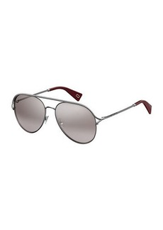 Metal Twist Aviator Sunglasses