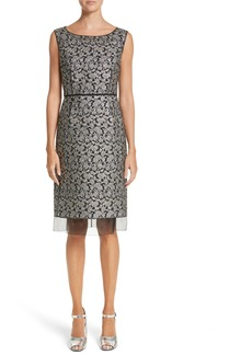 MARC JACOBS Metallic Jacquard Sheath Dress