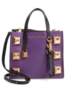 MARC JACOBS Mini The Grind Studded Leather Tote