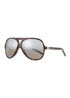 Marc Jacobs Mirrored Plastic Aviator Sunglasses