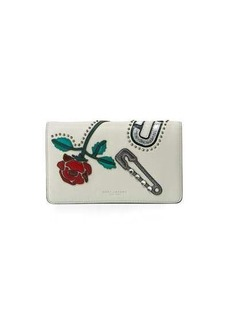 Marc Jacobs MJ Collage Leather Wallet-on-Strap