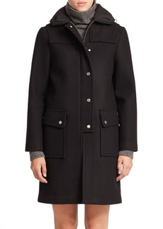Marc by Marc Jacobs Norman Bonded Wool Techno Coat