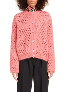 MARC JACOBS Open Stitch Mohair Blend Cardigan
