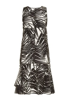 Marc Jacobs Palm-print sleeveless cotton-poplin dress