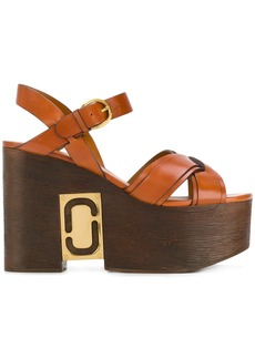 Marc Jacobs Paloma Status wedge sandals - Brown