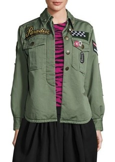 Marc Jacobs Paradise-Appliqué Military Jacket