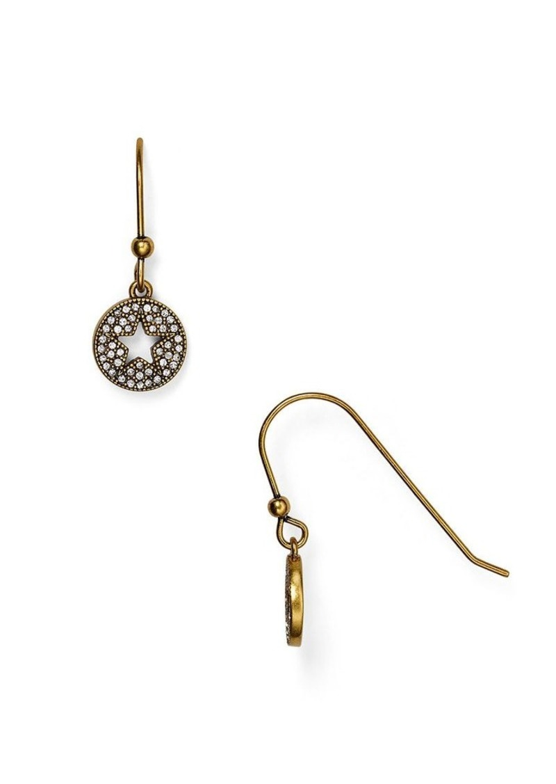 MARC JACOBS Pavé Star Drop Earrings
