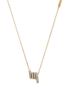 Marc Jacobs Pave Twisted Pendant Necklace