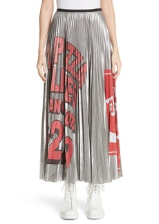 MARC JACOBS Pizza Print Pleated Skirt