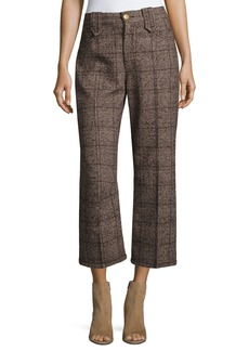 Marc Jacobs Plaid Tweed Cropped Pants