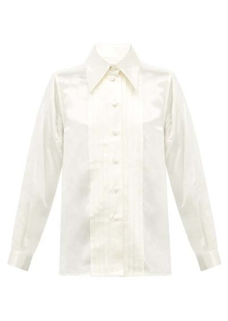 Marc Jacobs Pleated charmeuse shirt