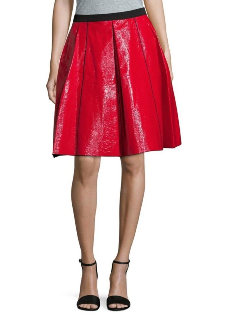 Marc Jacobs Pleated Cotton Fit-&-Flare Skirt