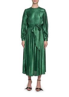 Marc Jacobs (Runway) Pleated Lame Self-Tie Midi Dress