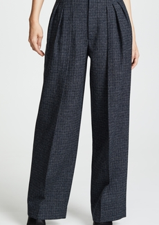 Marc Jacobs Pleated Micro Check Pants