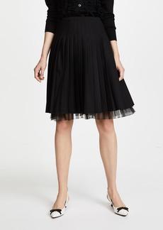 Marc Jacobs Pleated Wool Skirt