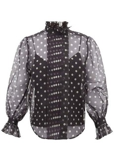 Marc Jacobs Polka-dot silk-organza blouse
