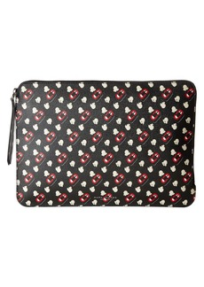 "Marc Jacobs Popcorn Scream Printed Coated Canvas Tech 13"" Computer Case"