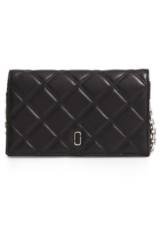 MARC JACOBS Quilted Leather Wallet on a Chain