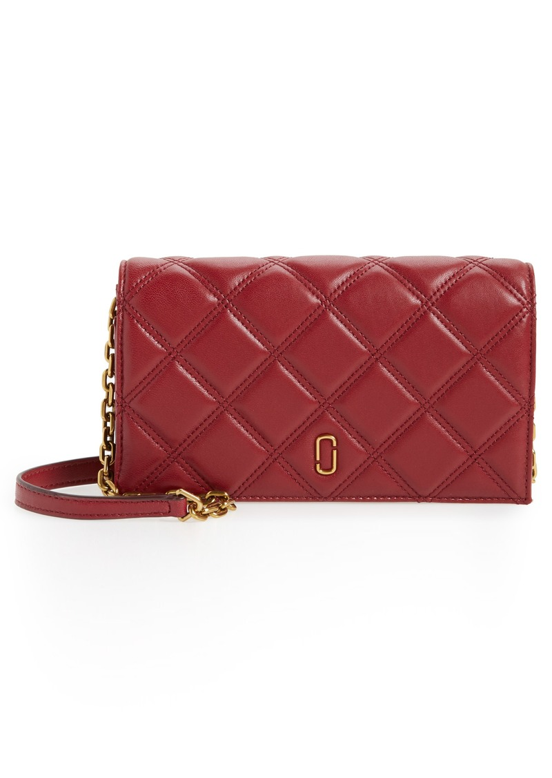 Marc Jacobs MARC JACOBS Quilted Leather Wallet on a Chain ... : marc jacobs quilted wallet - Adamdwight.com