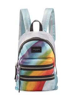 Marc Jacobs Rainbow-Print Nylon Biker Mini Backpack