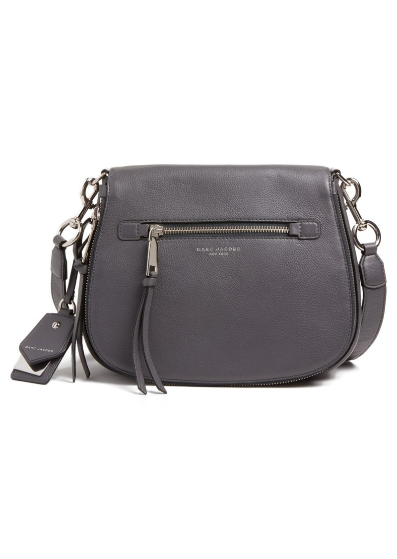 bd85851cf35 Marc Jacobs MARC JACOBS Recruit Nomad Pebbled Leather Crossbody Bag ...