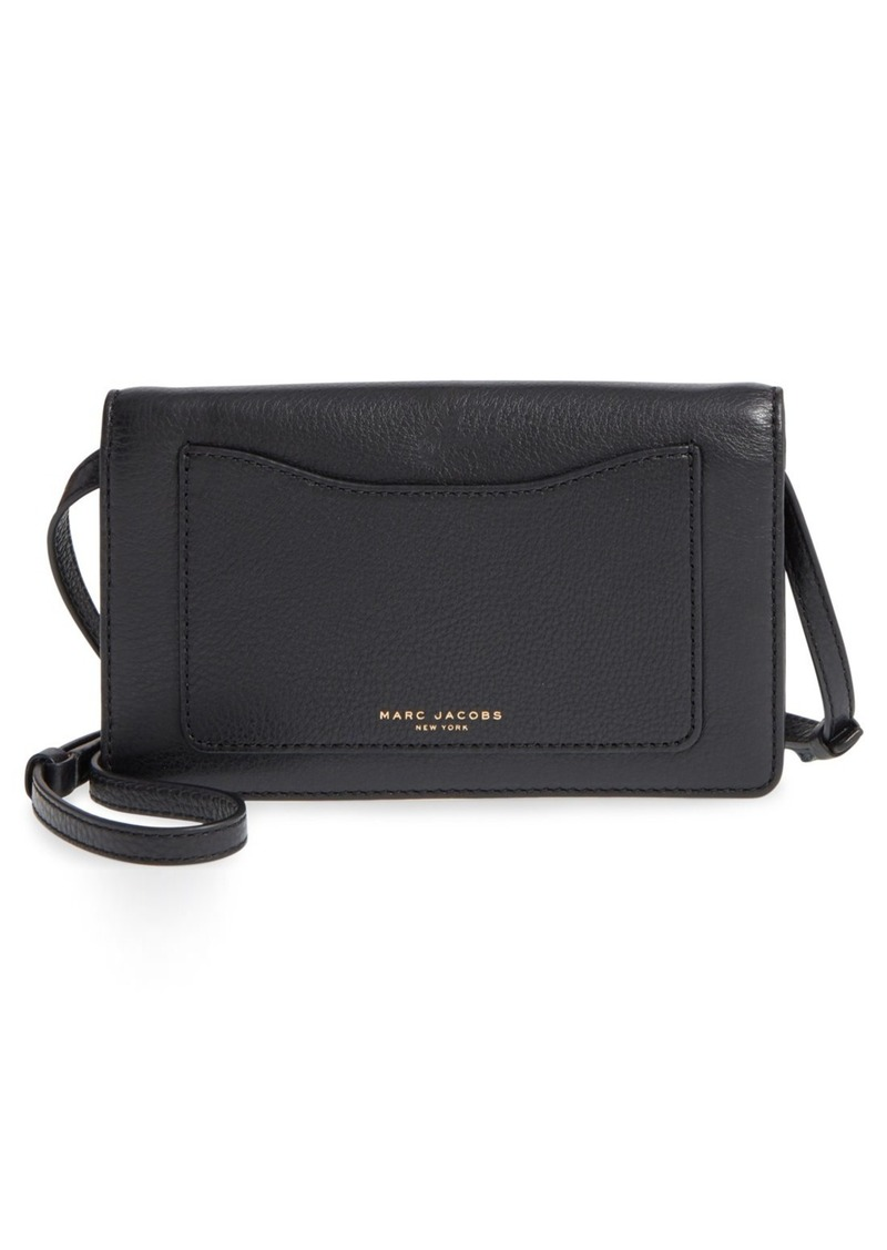 73c62455a6 Marc Jacobs MARC JACOBS  Recruit  Pebbled Leather Crossbody Wallet ...