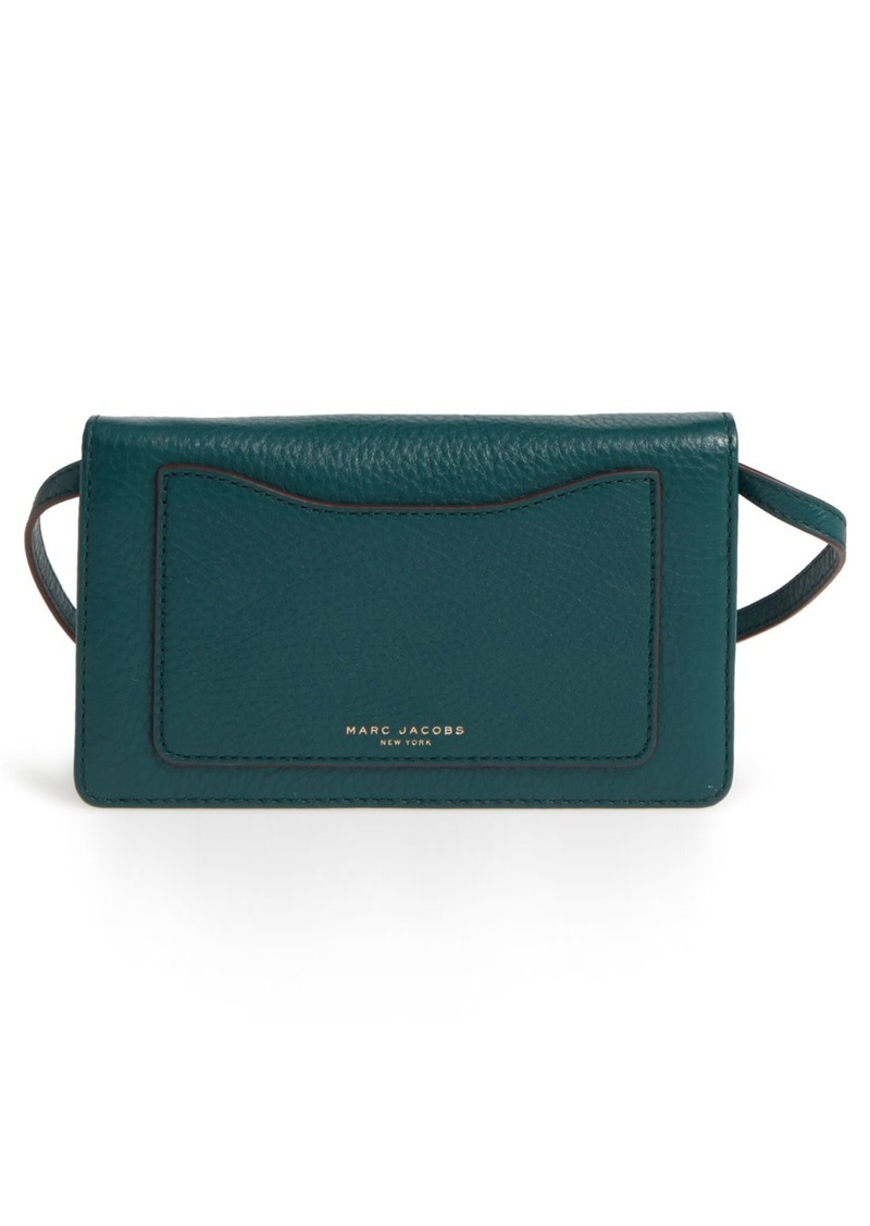 87ae661b8128 Marc Jacobs MARC JACOBS  Recruit  Pebbled Leather Crossbody Wallet ...