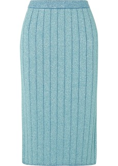 Marc Jacobs Ribbed Lurex Midi Skirt