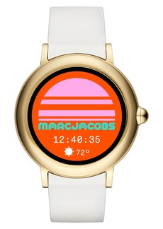 Marc Jacobs Riley Silcone Strap Smart Watch, 44mm