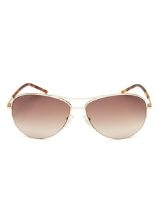 MARC JACOBS Women's Brow Bar Aviator Sunglasses, 59mm