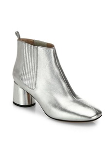 Marc Jacobs Rocket Metallic Leather Block Heel Chelsea Booties