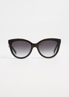 Marc Jacobs Round Slight Cat Eye Sunglasses
