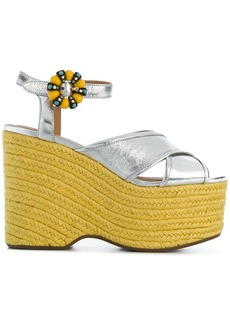 Marc Jacobs Rowan wedge sandals - Yellow & Orange