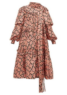 Marc Jacobs Ruffled paisley-print silk midi dress